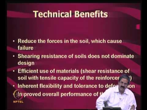 Mod-08 Lec-25 Reinforced soil principles and mechanisms