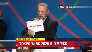 Tokyo to host 2020 Olympic Summer Games   東京は、2020年オリンピック夏季大会をホストする