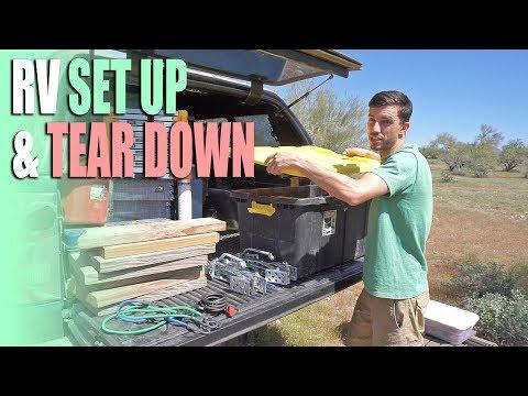rv-set-up-&-tear-down-procedure---boondocking-campsite-setup-steps