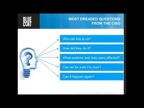 Webinar Bluecoat Security Analytics & SSL Visibility Appliance Advanced Threat Protection
