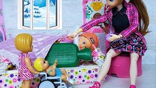 БУДЕШЬ ЗНАТЬ, КАК БЕЗ ШАПКИ ГУЛЯТЬ! Катя и Макс веселая семейка сериал живые куклы