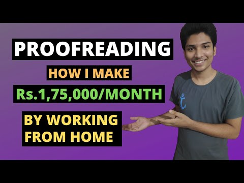 What is PROOFREADING? Proofreading Jobs for beginners with NO EXPERIENCE!!! Hindi {2020}