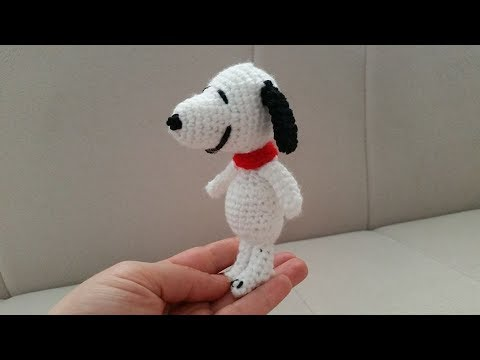 Amigurumi Tutorial Snoopy : Amigurumi snoopy ayrıntılı yapılışı #2 youtube