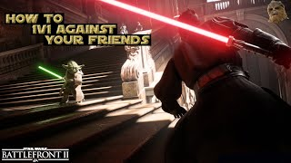 How to 1v1 against a friend (Tutorial) - Star Wars Battlefront II [English Sub]