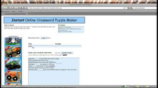 Puzzle-maker.com Screencast