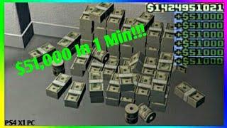 GTA Online Make $51,000 In 1 Min | Solo Unlimited Money Glitch [PS4, X1, PC]