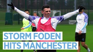 CITY STORM THROUGH TRAINING | MAN CITY