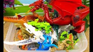 3 ЛЕГО НАБОРА Динозавров - Сравнение, особенности - Видео обзор игрушек ЛЕГО + Дракон
