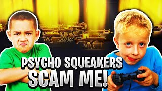 Two Psycho Squeakers Scam Me! (Scammer Gets Scammed) Fortnite Save The World