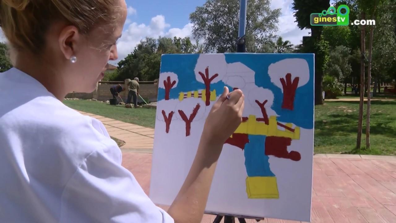 El Parque Municipal se llenó de arte con el IV Certamen de Pintura Rápida de Gines