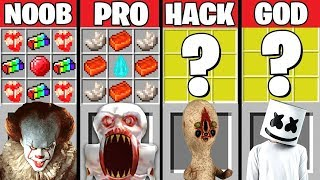 Minecraft Battle Scp-096 Vs Marshmello Crafting Challenge  Noob Vs Pro Hacker Vs God – Animation
