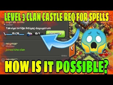 OMG😱? HOW HE REQUEST FOR SPELL IN LEVEL 3 CLAN CASTLE | GHOST PLAYER IN CLASH OF CLAN |