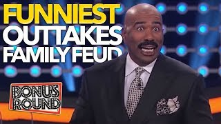 FUNNIEST OUTTAKES On Celebrity Family Feud! Some Answers Stump Steve Harvey! Bonus Round