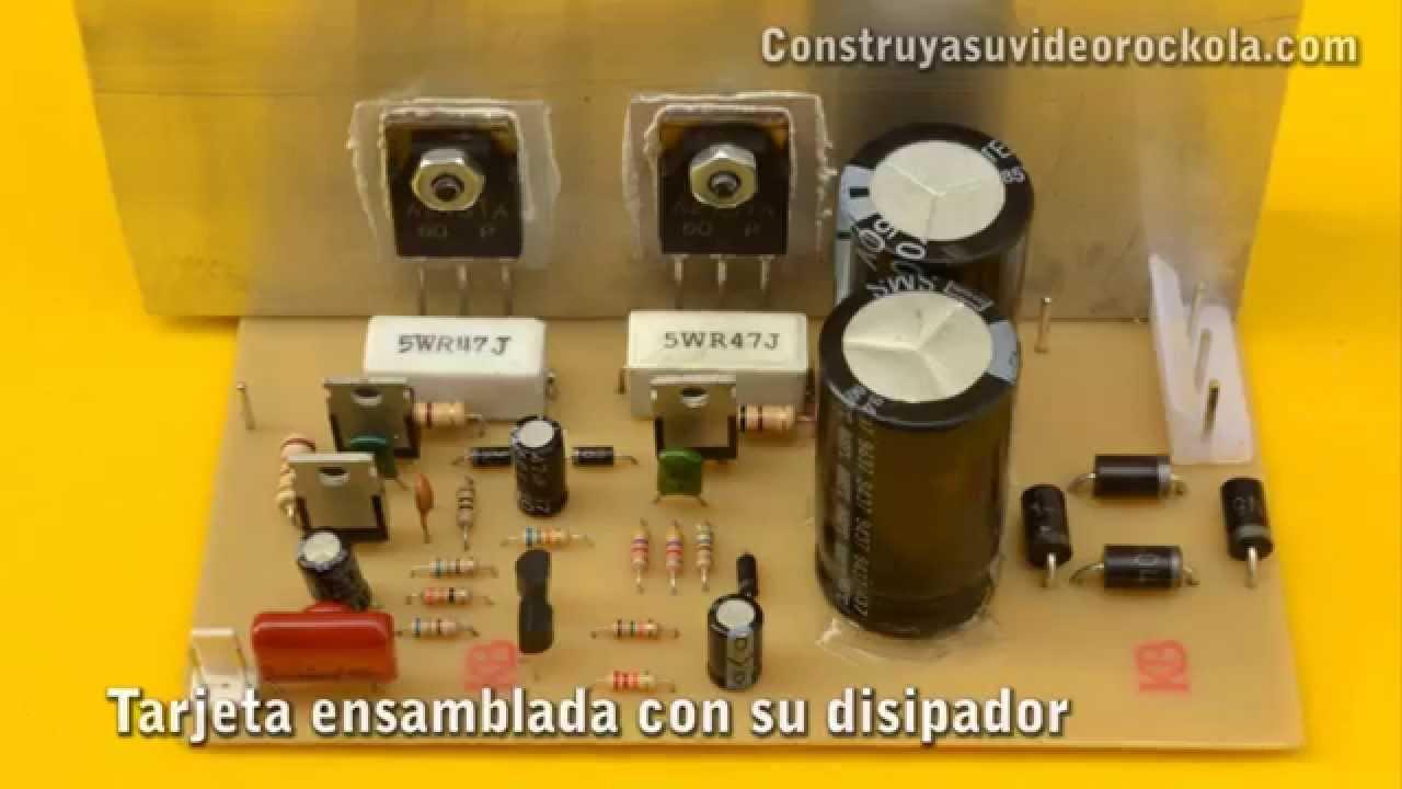 amplificador de 100w con transistores pnp [ 1280 x 720 Pixel ]