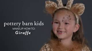 Fun Halloween Makeup Tutorial - Giraffe Costume for Pottery Barn Kids