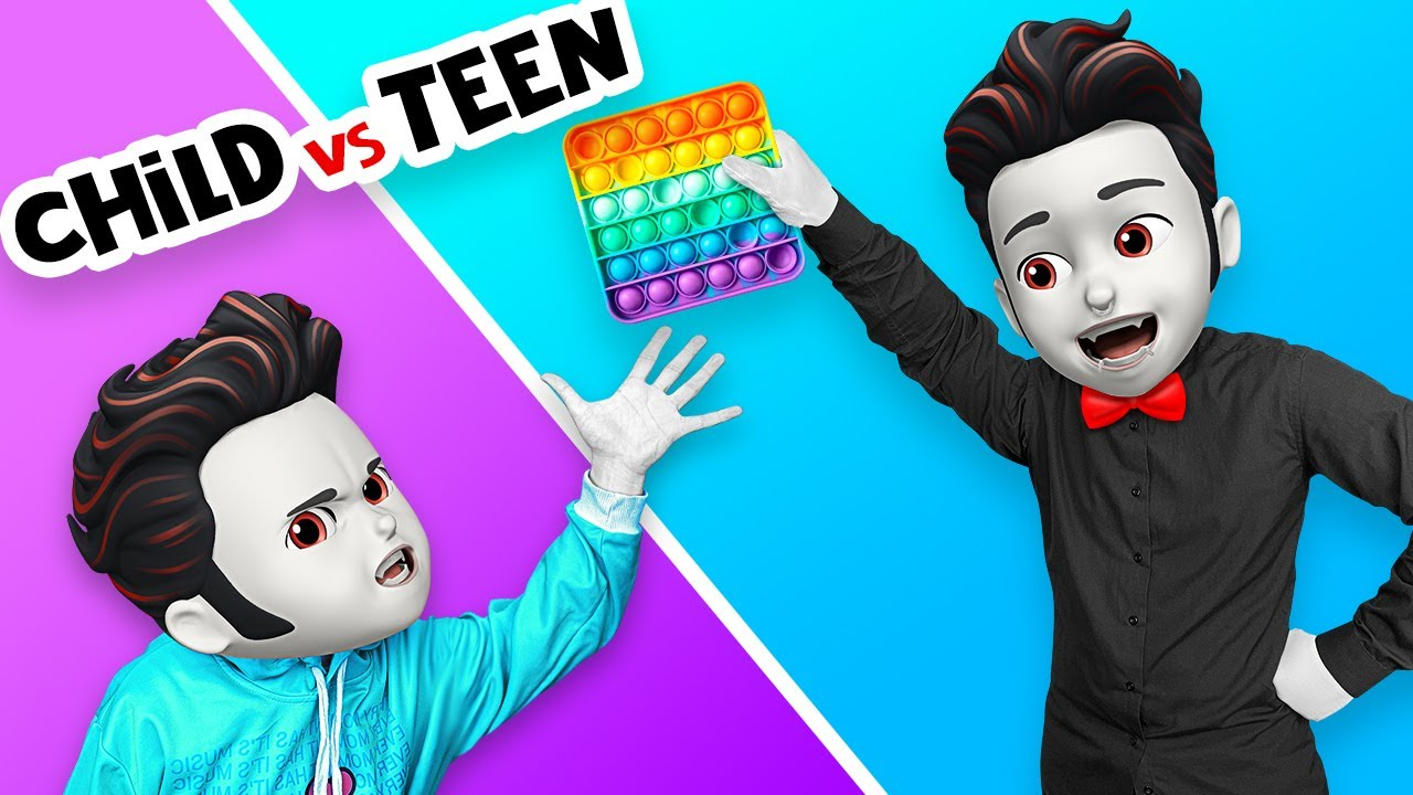 CHILD YOU VS TEEN YOU || Awkward Situations at Monster School by La La Life Emoji