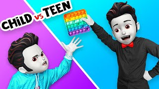CHILD YOU VS TEEN YOU || Awkward Relatable Situations at Monster School by La La Life Emoji