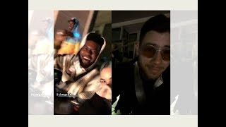 Khalid and Nick Jonas CUTE Reaction to BTS Live in Rose Bowl Concert 💜💜😁😂😂💜💜💜