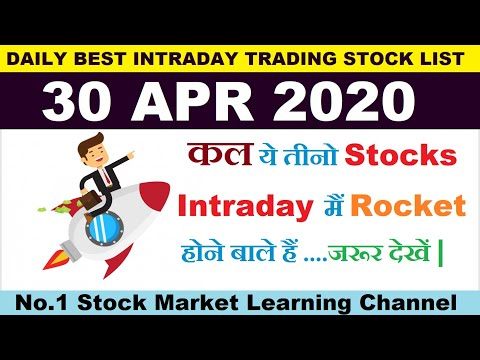 Best intraday trading stocks for 30 APR 2020 | Intraday trading strategies|StockMarketHacks|