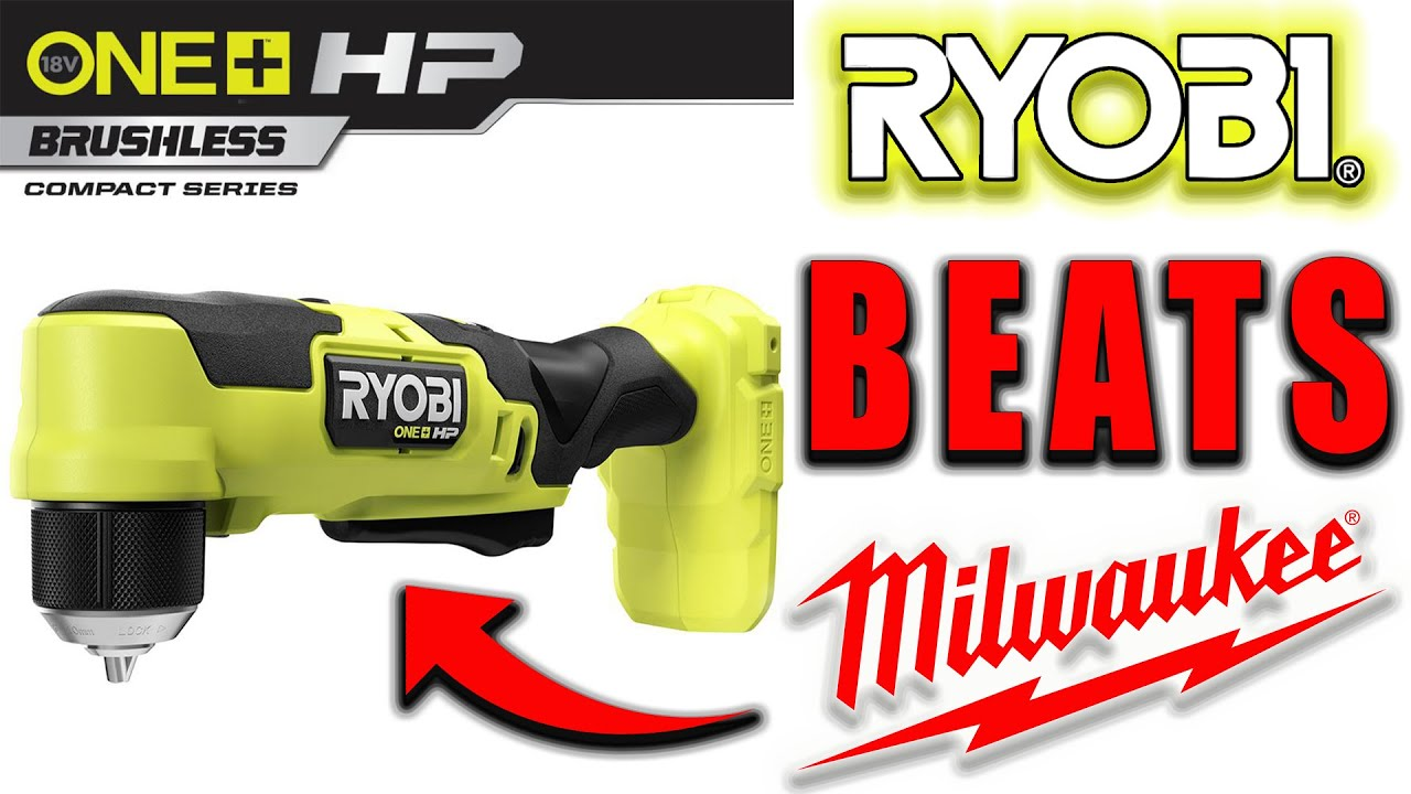 New RYOBI 18V ONE+ HP Compact Right Angle Drill BEATS MILWAUKEE and ALL OTHERS!