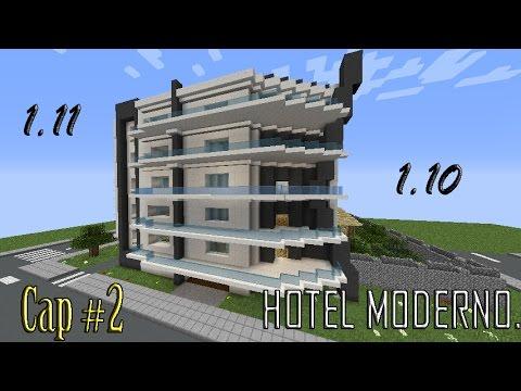 Como hacer un hotel moderno en minecraft capitulo 2 for Minecraft moderno