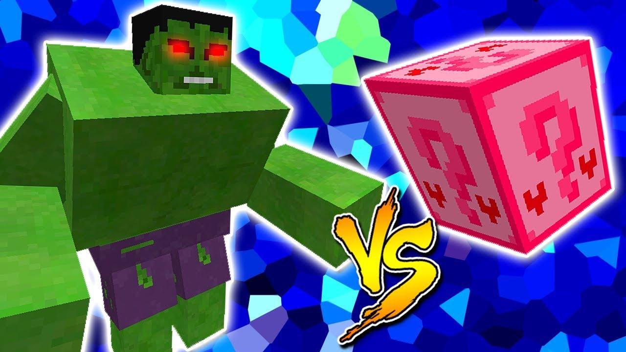 Hulk Vs Lucky Block Amor Minecraft Lucky Block Challenge Youtube