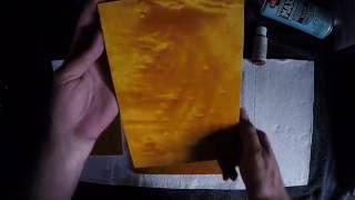 Yellow Dyes On Oak | Yellow Dyes On Maple | Using Liquid Dyes To Make Yellow Wood Stain