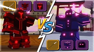 Maxed Warrior VS Mage 'Best Loadouts' Samurai Palace ( Mise à jour De quête de donjon (Roblox)