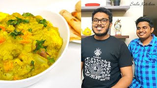 How to make Simple Vegetable Kurma | Family Cooking Challenge | Bachelor special | Salu Kitchen