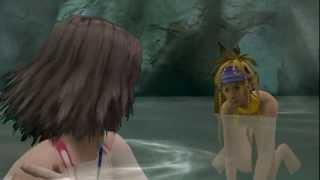 Final Fantasy X-2 - Hot Spring Scene