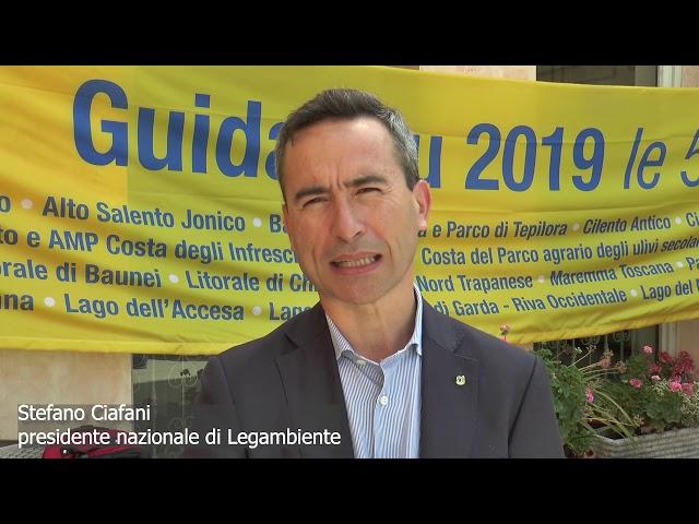 Presentazione della guida 'Il Mare più Bello 2019' - Stefano Ciafani, Legambiente