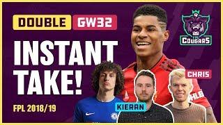 BIG FPL DOUBLE GW32: Plans & Captaincy - Aguero? Sterling Hazard?