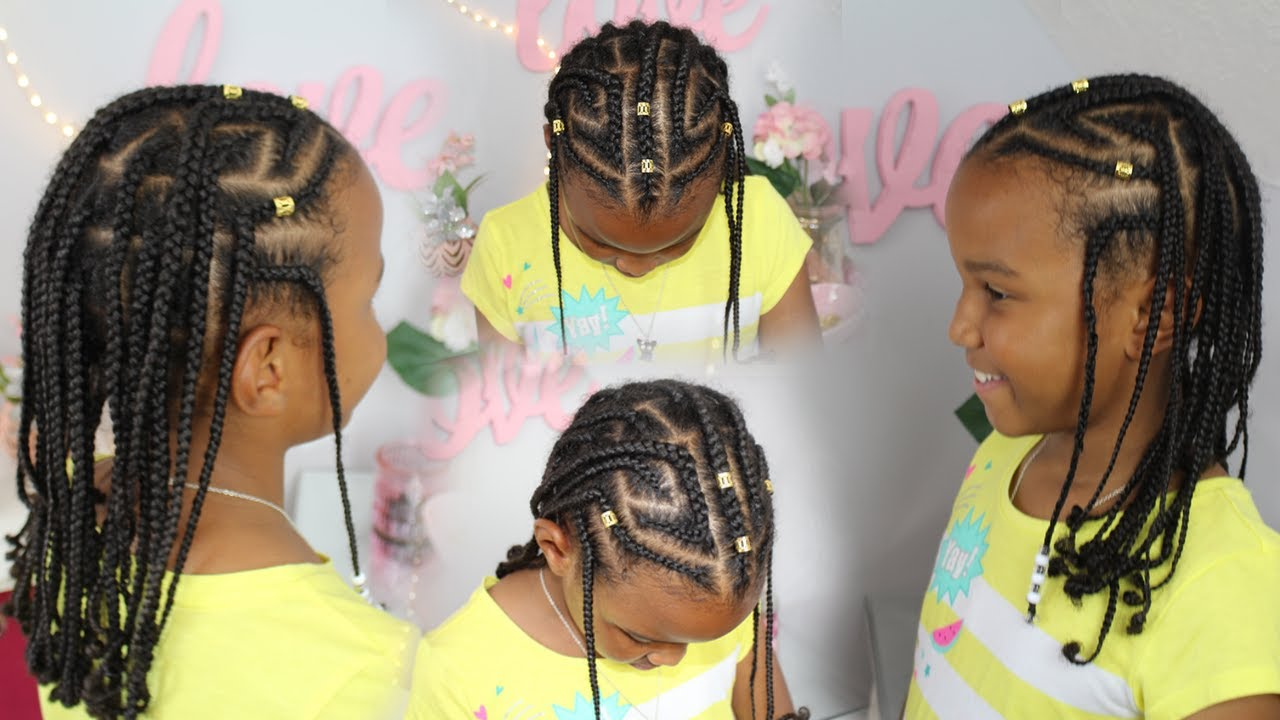 fulani inspired braids | kids natural hair ▸ braided protective style