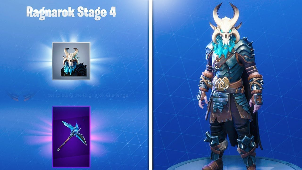 How To Unlock Secret Permafrost Pickaxe Ragnarok Mask In Fortnite New Ragnarok Stage