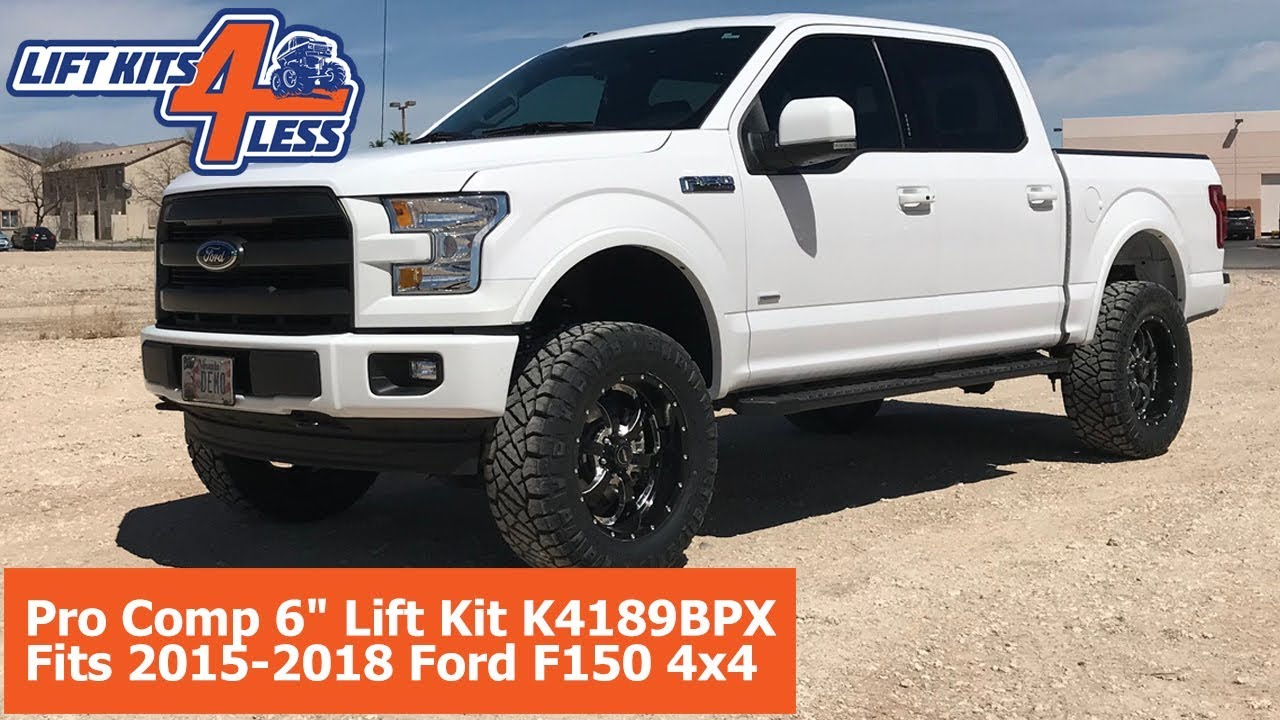 6 Inch Lift Kit For Ford F150 4X4 >> Pro Comp 6 Lift Kit K4189bpx Fits 2015 2018 Ford F150 4x4