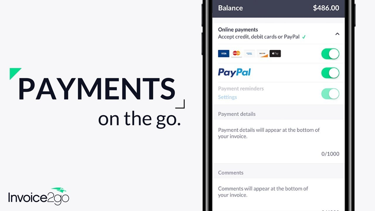 How To Accept Payments With Invoicego YouTube - Invoice2go software