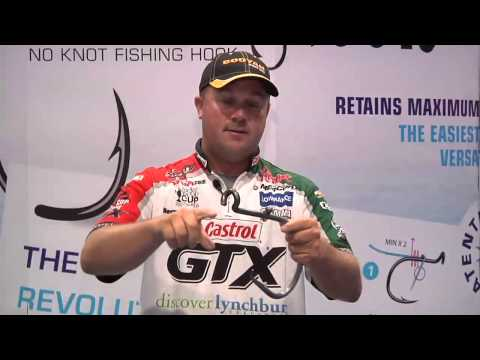 Easy 2 Hook No Knot Fishing Hooks With David Dudley | ICAST 2013