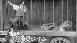 Charlie Chaplin The Lions Cage ............ funny video