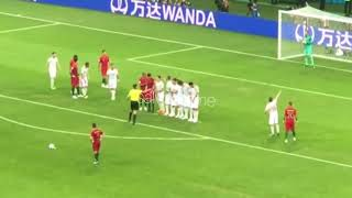 How Ronaldo's insane freekick felt from the stands.| FAN VIEW
