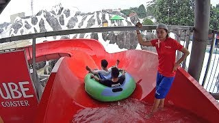 Red Tube Water Slide at SnowBay Waterpark