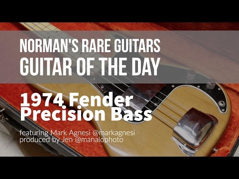Norman's Rare Guitars - Guitar of the Day: 1974 Fender Precision Bass