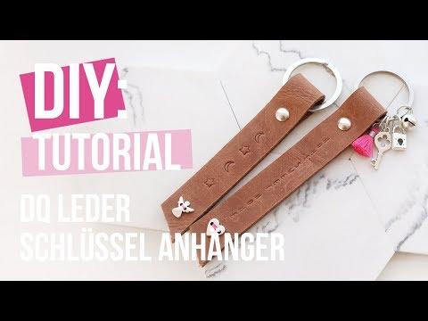 Schmuck machen: Schlüsselanhänger aus DQ Leder ♡ DIY