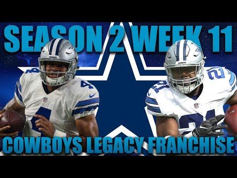 Another Huge Game vs Eagles! Madden 18 Cowboys Franchise   Legacy Season 2 Week 11