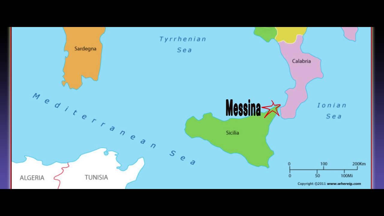 Messina map YouTube