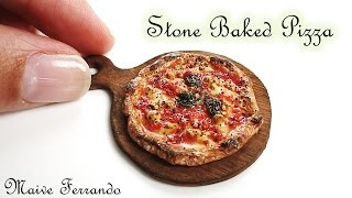 Miniature Polymer Clay Stone Baked Margherita Pizza Tutorial