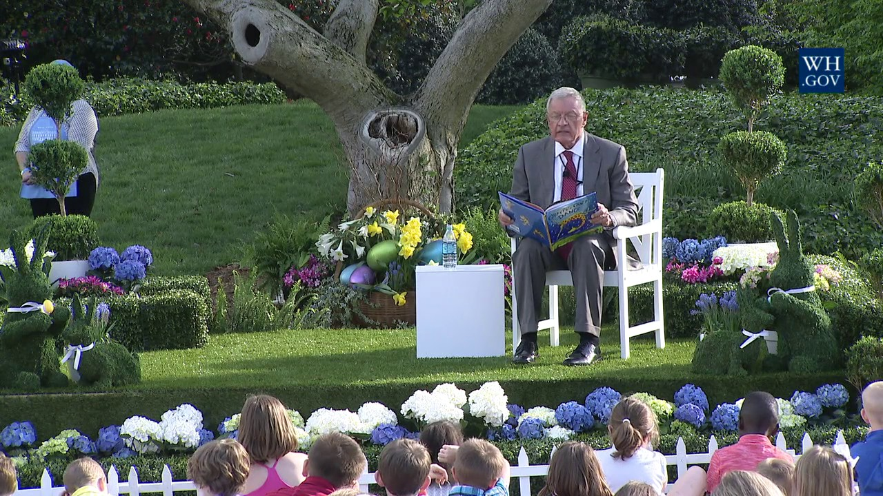 White House Easter Egg Roll: Reading Nook with General Kellogg