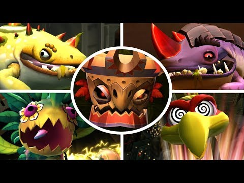 Donkey Kong Country Returns HD - All Bosses (No Damage)