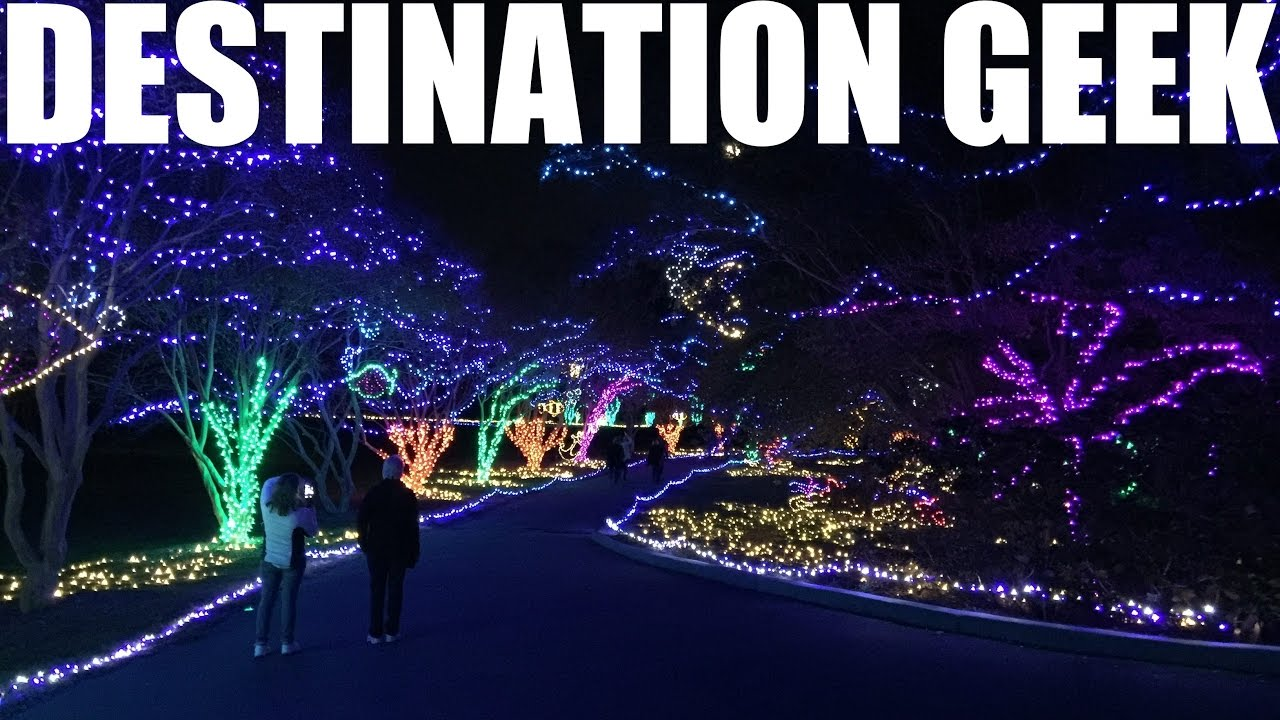 Million Bulb Walk 2016 Norfolk Botanical Garden Of Lights Youtube