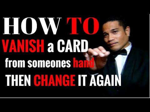 "Vanish and Change a Card In Someones Hand ""TUTORIAL"""
