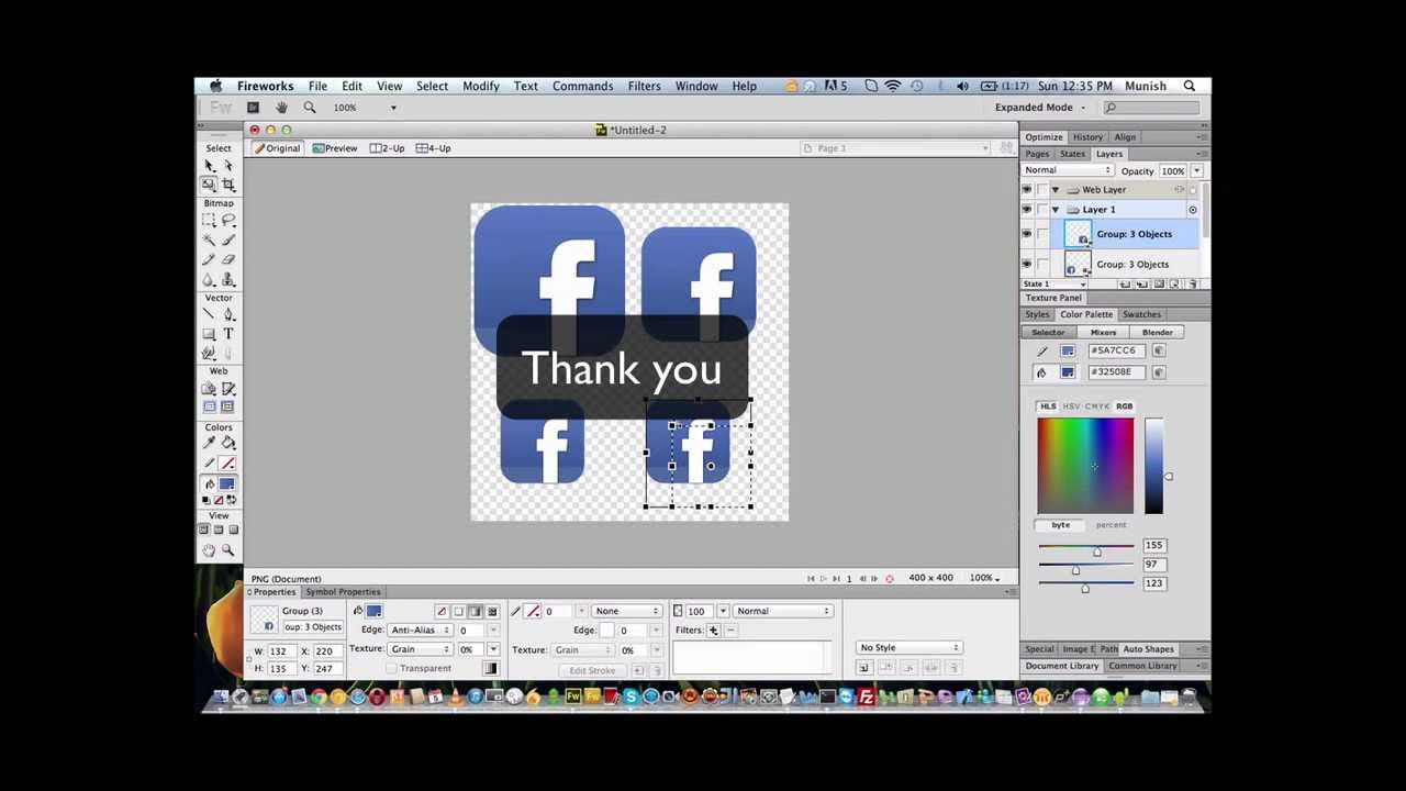 Design Android/iPhone App Icon using Adobe Fireworks ... Fireworks Icon Iphone